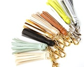ONE Clip On Tassel - Silver, Gold, Brown, Mint, White, Black, Lime Green, Tribal, Boho, Accessories, Keychain