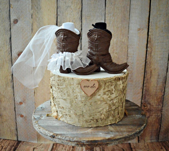 Cowboy Western Wedding Cake Toppers