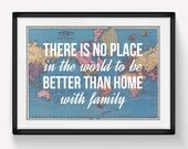World Map Print, Family Quote, Home Quote, World Map Poster, Wanderlust, Home Decor, Family Sign, Home Sweet Home, Family Print, Home Print