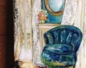 Paris .. original oil painting 8x10