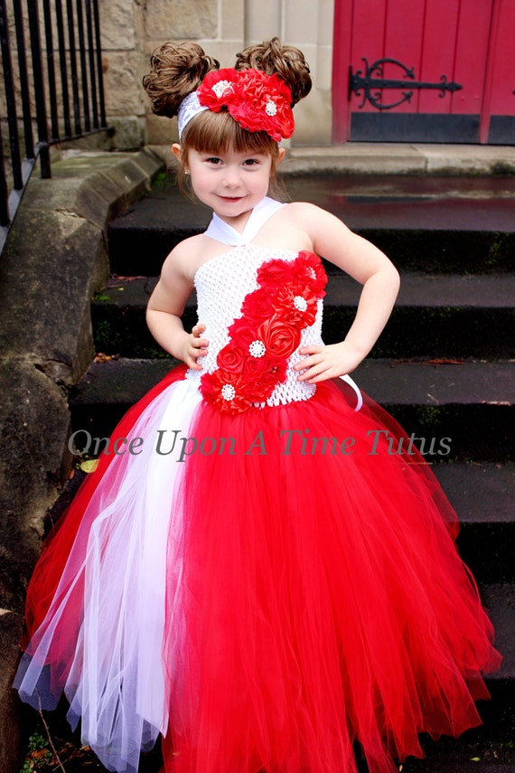 Girl tutu dress holiday photo prop baby girls size 12 18 months