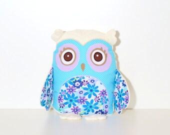 Organic Owl Pillow, Handmade, Custom Baby Owl Pillow