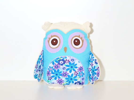 Organic Owl Pillow, Handmade, Custom Baby Owl Pillow
