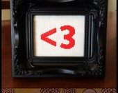 The Geek Heart Cross Stitch PDF Pattern - Immediate Download from Etsy - Text / Type Mobile Love