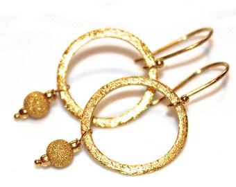 Gold Vermeil Circle Earrings Artisan Jewelry Everyday Jewelry infinity Earrings Simple Jewelry Large Circle Earring Hoop Earring