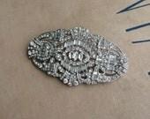 wedding brooch, silver Art deco brooch, LARGE, crystal brooch, bridal brooch, brooch pin, jewelry, Great gatsby, BROOCH GATSBY crystal