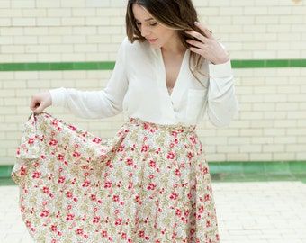 Floral 1950's inspired skirt - 25% off!