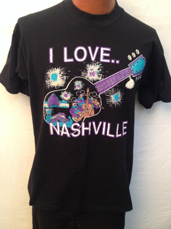 Vintage i love nashville t shirt size xl for Nashville t shirt printing