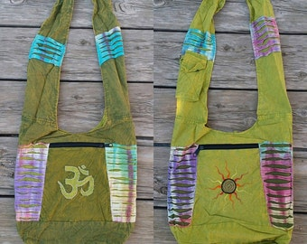 Om Aum Sun Reversible Large Messenger Bag**Only one available**