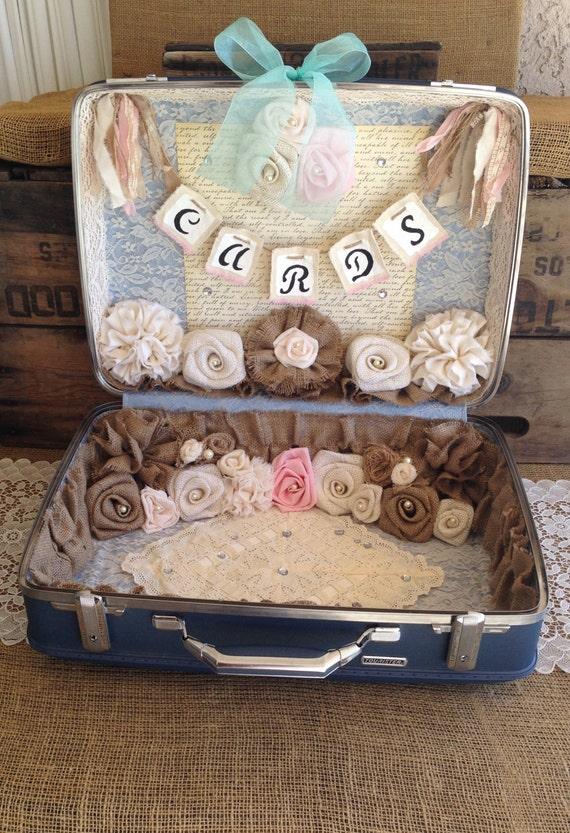 sale vintage suitcase wedding card box wedding card holder