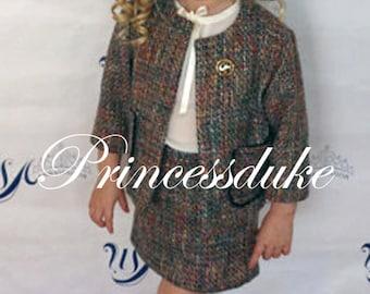 Girls Pageant Interview Business Princessduke Tweed Suit