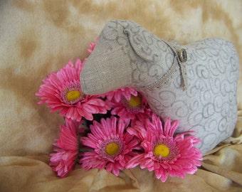 Handmade Linen Sheep Doll Pillow Home Decor Primitve Shabby Accent