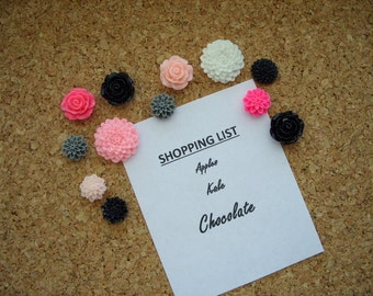 Magnets or Push Pins,Thumbtacks, Pretty Flowers, Cute, Fridge Magnets, Strong Magnets, Hostess Gift, Cute, Locker,Corkboard,Office Decor