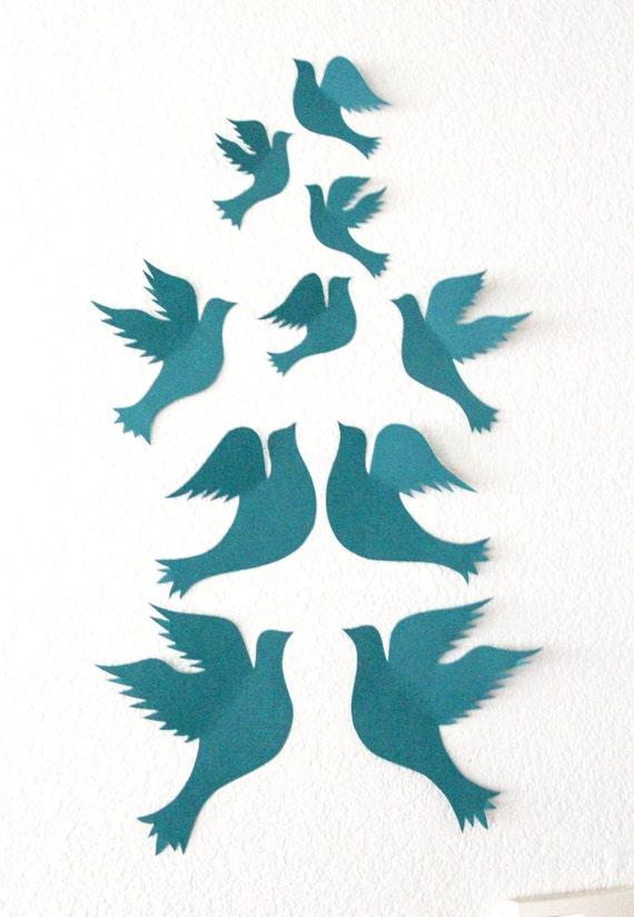 Paper Birds Wall Decor : Items similar to dove wall decor d birds art