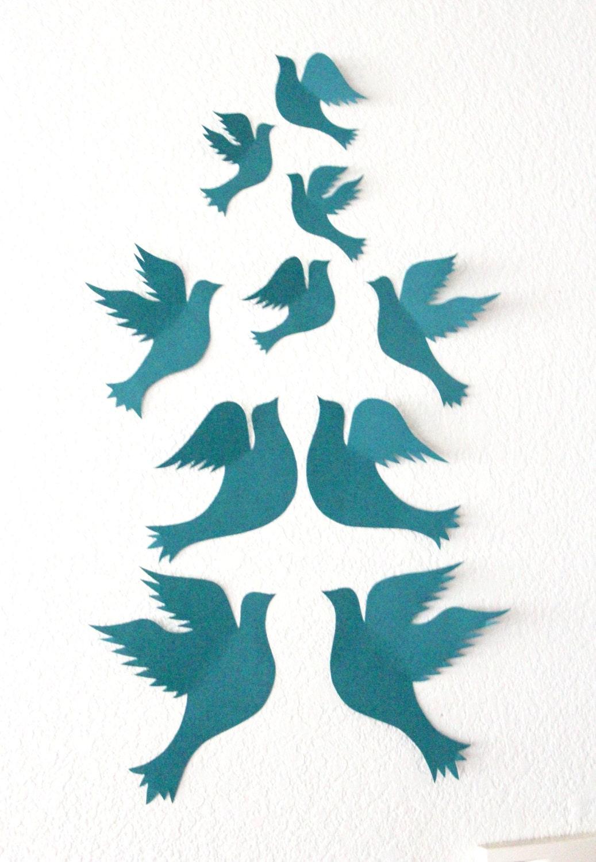 3d Wall Decor Birds : Dove wall decor d birds art bird