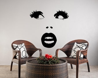 Lips Wall Decal Etsy - Wall decals eyes