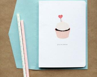 Cupcake 'You're Sweet' Love Card