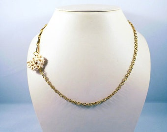 Boho Shell Necklace Handmade Gold Necklace