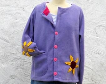 Womens Fleece Jacket 'Sunflower'