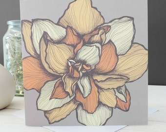 Jessica Floral Card, Greetings Card, Blank Card, Stationery, Paper Goods