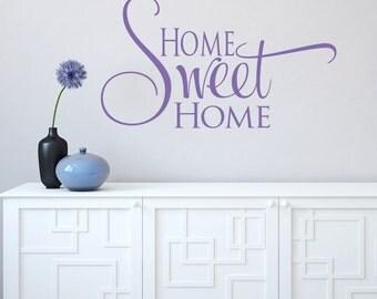 Home Sweet Home Decal - Vinyl Wall Decals - Vinyl Decals - Home Decor - Home Decal - Wall Sticker