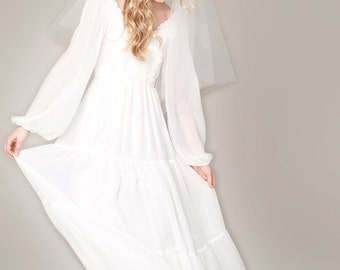Bohemian Wedding Dress Evangeline Gown
