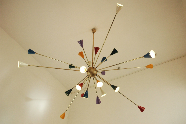 lustre g ant de spoutnik lumi re de la lampe stilnovo style. Black Bedroom Furniture Sets. Home Design Ideas