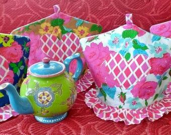 Jennifer Paganelli, Tea cozy, tea cozies, vintage style, Happy Land, Sis Boom Fabrics, From the Heart