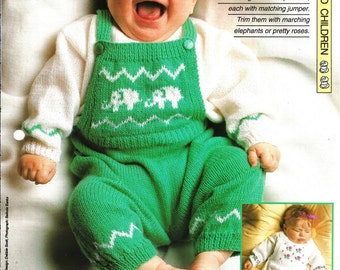"Knitting pattern - Baby's ""Twin Set"" - Instant download"