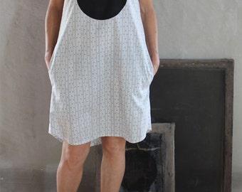 Big Black Dot Handmade Cotton Shift Dress
