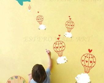 Skydiving Removable wall Stickers, home decor, Nursery Wall Sticker, kids room sticker