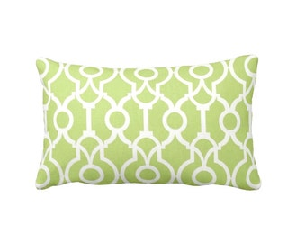 7 Sizes Available: Decorative Pillow Cover Lime Green Pillow Cover Trellis Pillow Kiwi Green Throw Pillow Cover Lumbar Pillow Cushion Cover
