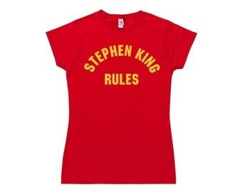 Womens Stephen King Rules T Shirt
