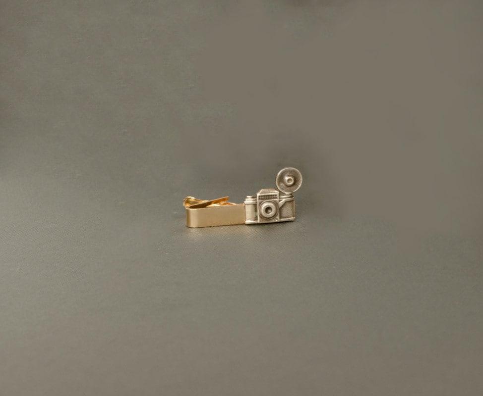 Camera Tie Bar : Camera tie clip men s brass bar gifts