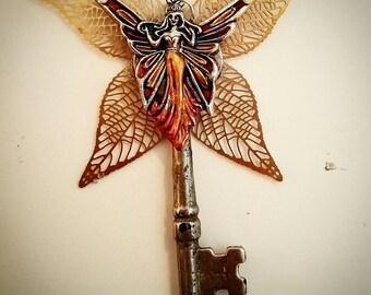 Fire Fairy Key Pendant