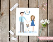 Customized portrait for your wedding, bridal party gift, guest book, home decor, invitations