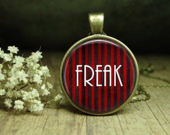 Circus Freak Necklace, Horror Story Jewelry, Scary Clown Necklace, Gothic Steampunk Circus Pendant, Circus Freak Necklace, Freak Jewelry