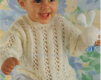 baby sweater knitting pattern toddler sweater pattern baby jumper newborn pattern 16-22 inch DK baby knitting pattern pdf instant download