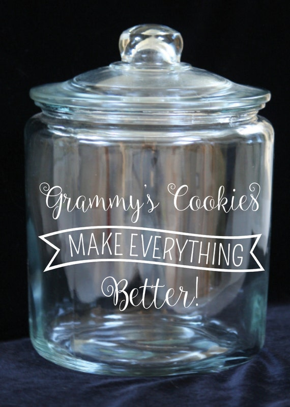 items similar   gallon glass cookie jar grammys