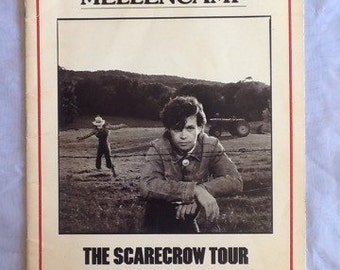 John Cougar Mellencamp The Scarecrow Tour book 1985