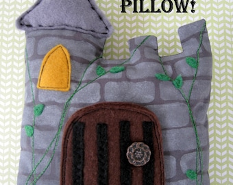 Tooth fairy pillow, tooth fairy cushion, Handmade boys knight's castle drawbridge toothfairy pillow toothfairy pouch tooth holder