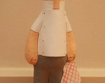 Chef paper mache figure, customize your figure