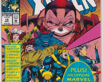 X-Men # 14 Marvel Comics Book 1992 Sealed in Near Mint Condition X-Cutioner's Song Part # 3 in Crossover Saga Apocalypse Trading Card