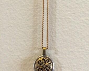 Antique button necklace