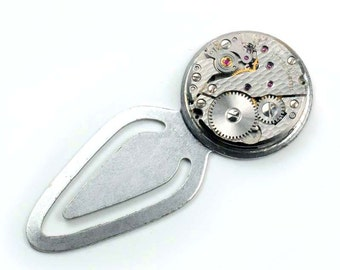Steampunk Vintage Watch Movement Bookmark