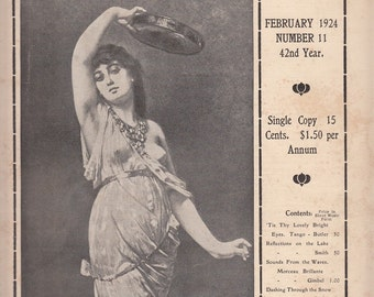 February 1924 Perry's Musical Magazine Articles Four Pieces of Sheet Music