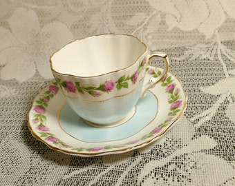 Hammersley Pink Rose Garland Cup and Saucer