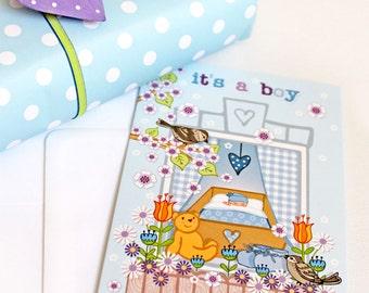It's A Boy - New Baby Card