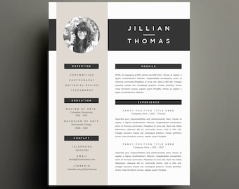 creative resume template and cover letter template for word diy printable resume 4 pack