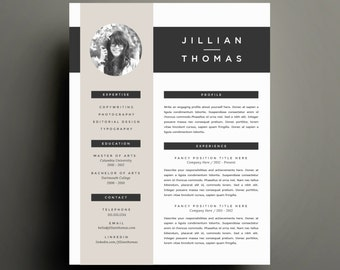 creative resume template and cover letter template for word diy printable resume 4 pack - Creative Resumes